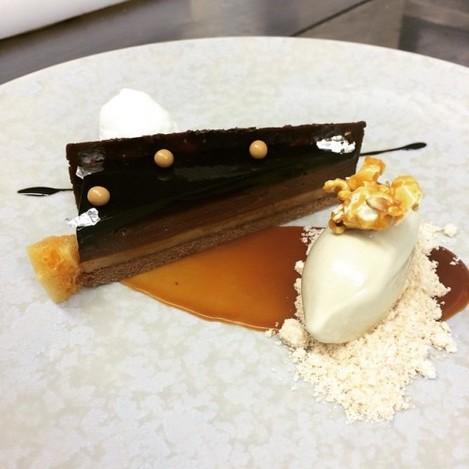 Chocolate, caramel, peanut, banana icecream#thegreenhouse #thegreenhousedublin #dublin #food