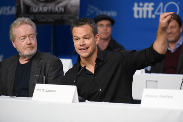 2015 TIFF - The Martian - Press Conference