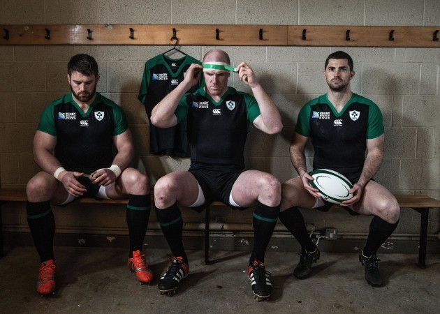 Sean O'Brein, Paul O'Connell and Rob Kearney