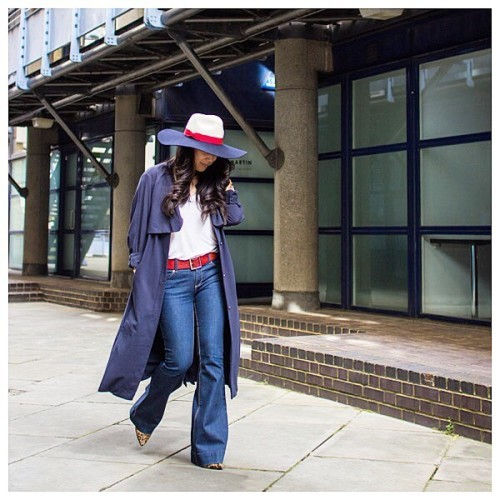 TBT red, white and blue in light of London Fashion Week starting tmrw