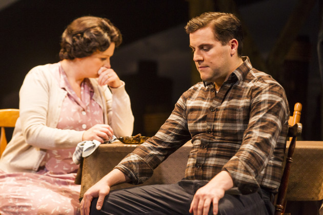 Peter Coonan and Niamh McCann in A View From The Bridge by Arthur Miller at The Gate Theatre. Photo by Pat Redmond. (2)