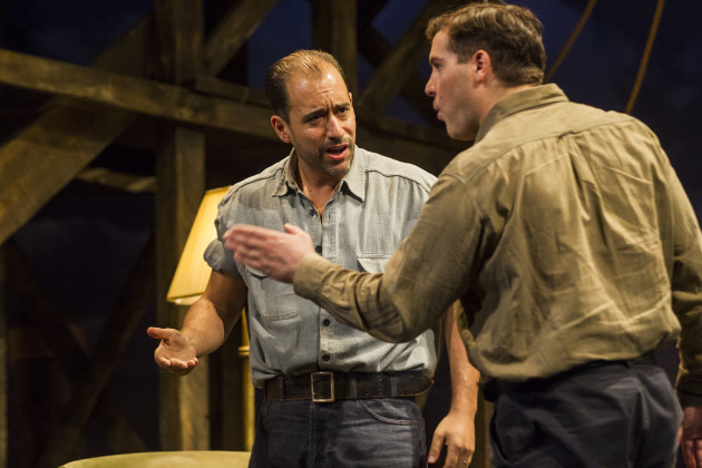 Scott Aiello and Peter Coonan in A View From The Bridge by Arthur Miller at The Gate Theatre. Photo by Pat Redmond.