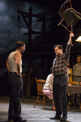 Scott Aiello and Peter Coonan in A View From The Bridge by Arthur Miller at The Gate Theatre. Photo by Pat Redmond. (2)