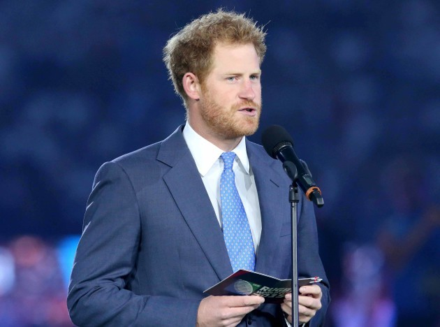Prince Harry at the opening ceremony