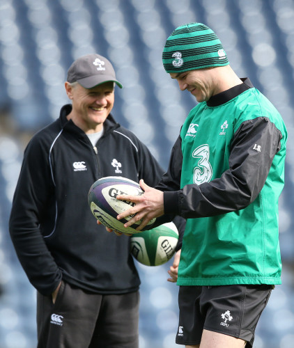 Joe Schmidt and Jonathan Sexton