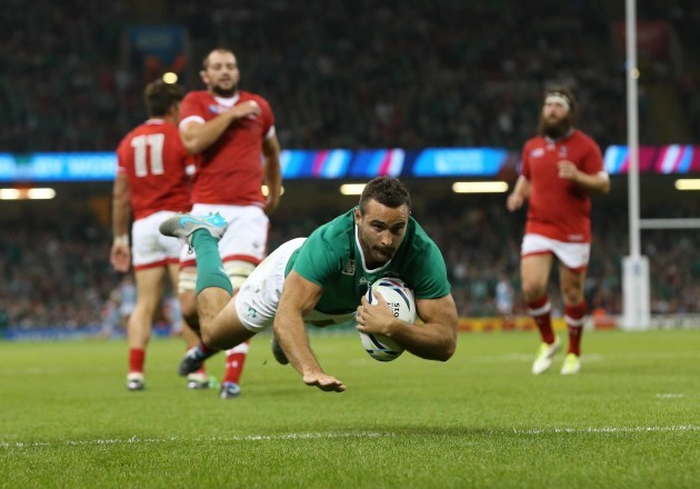Dave Kearney scores their fourth try