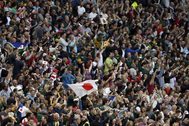 Britain Rugby WCup South Africa Japan