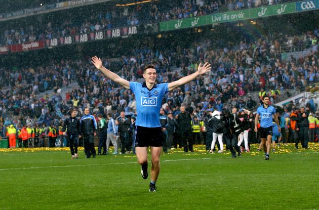 Brian Fenton celebrates