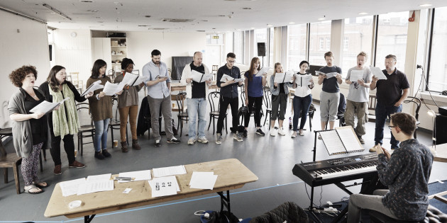 Tom Lane and Chorus rehearse Oedipus for Abbey stage Pic Ros Kavanagh (1)