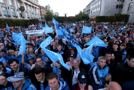 Dublin fans on O'Connell Street