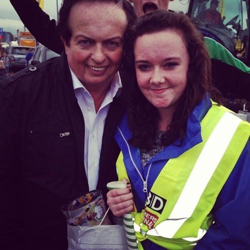 Marty Morrissy baaaiii #legend #gaa #some #boooyy #ploughing2013 #highvis #jacket #cuuurls