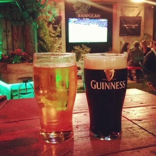 1st time in the#anpucan #beergarden #galway #footie #pints