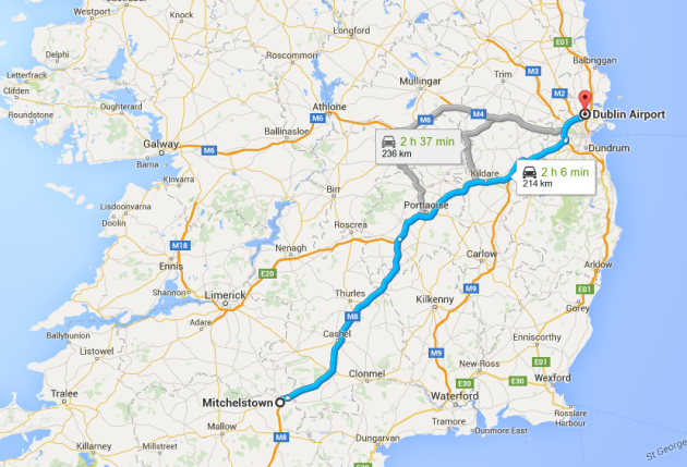 Mitchelstown to Cork