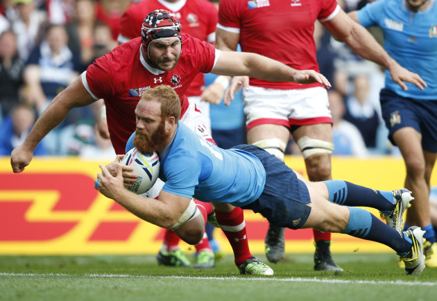 Britain Rugby WCup Italy Canada