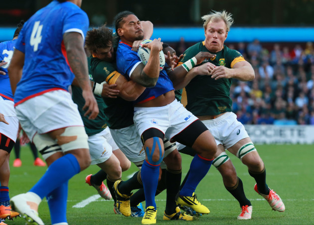 Britain Rugby WCup South Africa Samoa