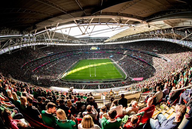 ireland fans turn wembley green to break world cup attendance record
