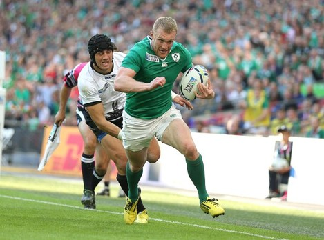 Keith Earls scores their second try