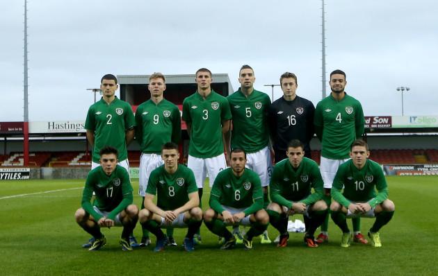 The Ireland team photo