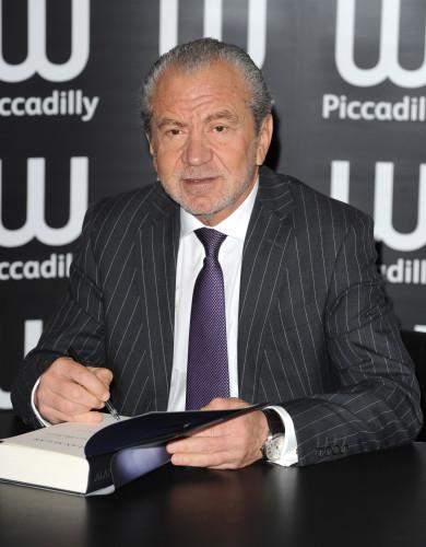 Alan Sugar book signing - London