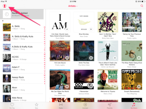 after-youve-set-up-apple-music-tap-the-little-head-symbol-on-the-top-left-of-your-screen-to-go-to-your-account