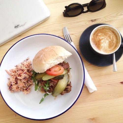 Blas Cafe @chocofactorydublin Beef Po Boy in @arunbakery bun. Divine sandwich in fantastic surrounds