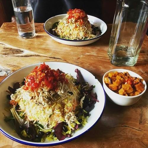 Jerk chicken salad in Temple Bar #regram from @corrzauber #staplefoods