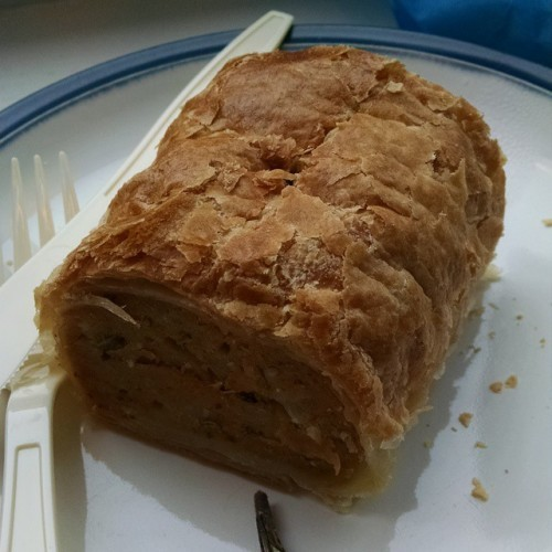 Just had a proper sausage roll and it was DELISH!! #dublin #cgtakedublin #honeymoon #ireland #lollyandcooks
