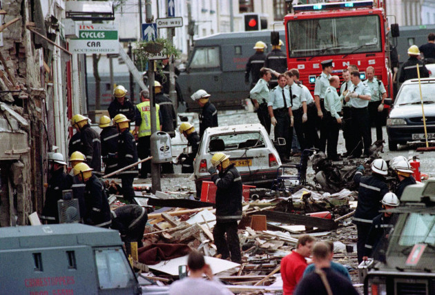 Omagh Bomb Blast Scene