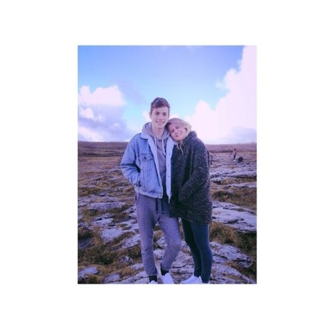 The Burren with my tourist.