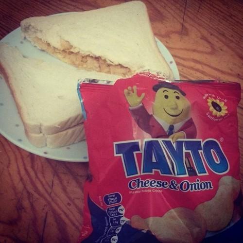 Can't bate a tayto sandwich #tayto #irishabroad