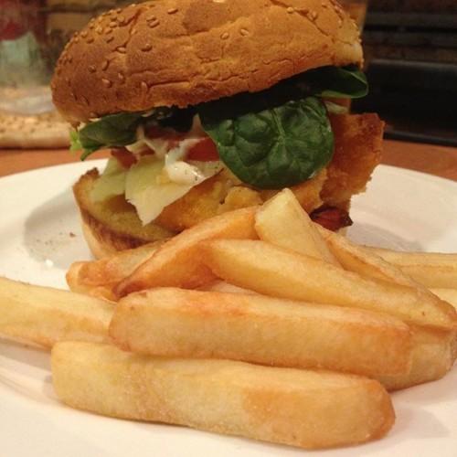 #chickenburger #chips