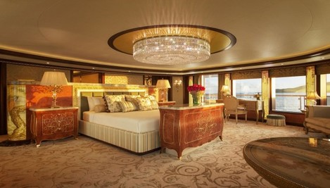 the-bedrooms-of-which-there-are-over-eight-are-all-beautifully-furnished-this-is-the-master-bedroom-located-on-the-top-deck-the-whole-upper-suite-includes-his-and-her-bathrooms-a-jacuzzi-and-a-180-degree-view