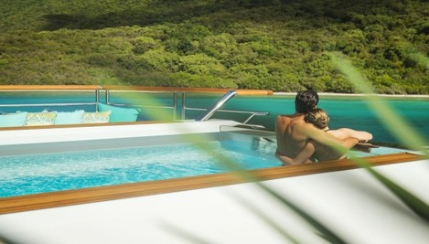the-pool-sits-at-the-back-of-the-boat-and-is-a-neat-55m-18ft-by-25m-8ft-making-it-perfect-for-early-morning-lengths-for-colder-climates-the-pool-is-heated-and-can-provide-a-reprieve-from-the-sea-which-on-a-bo