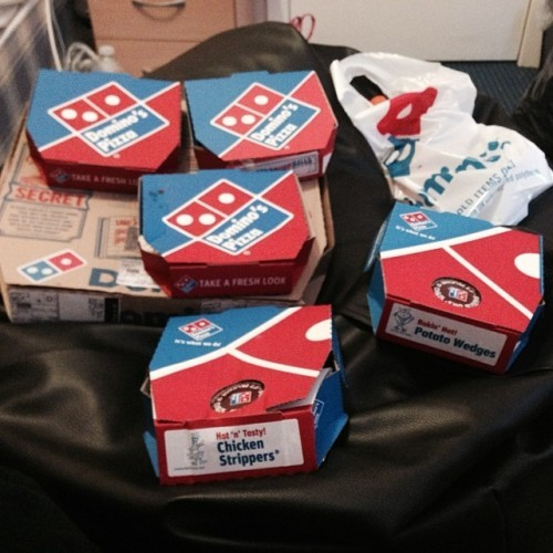 Got drunk last night and ordered a Domino's to be delivered for noon today to cure my hangover. Forgot all about it. Sober Conor would like to thank drunk Conor for his kind consideration.