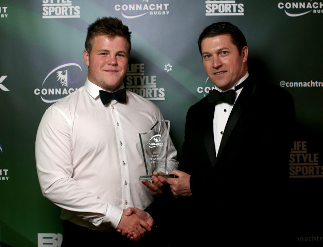 Conan OÕDonnell presented by Eamonn Molloy