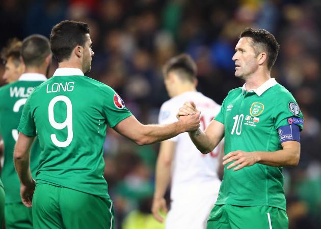 Shane Long and Robbie Keane