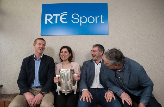 Joanne Cantwell with Henry Shefflin, Liam Sheedy and Tomas Mulcahy