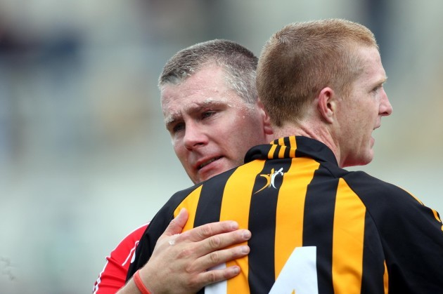Diarmuid O'Sullivan with Henry Shefflin at the end of the game