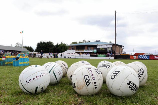 General view of match balls before the game