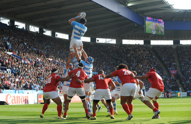 Britain Rugby WCup Argentina Tonga