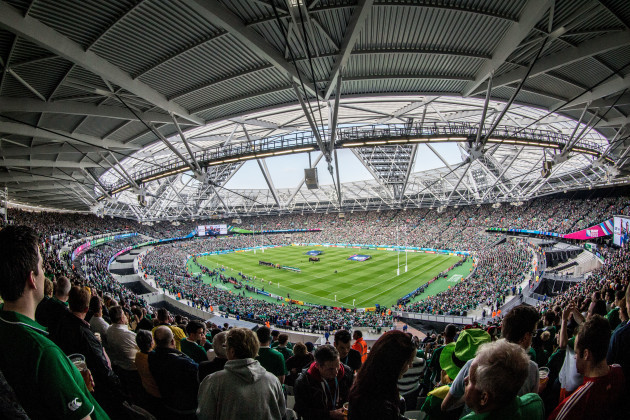A view of Olympic Stadium during today's game