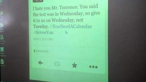This teachers background on Wednesday