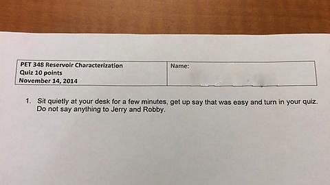 Psychology Professor trolls two of his students.