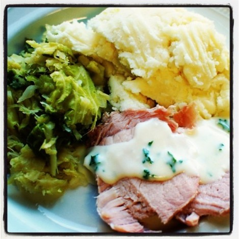 Bacon and cabbage for dinner tonight