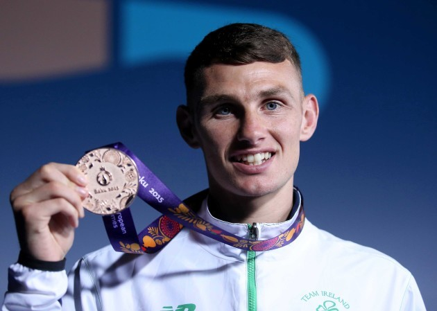 Sean McComb with his bronze medal