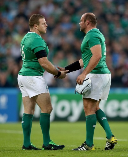 Sean Cronin and Rory Best