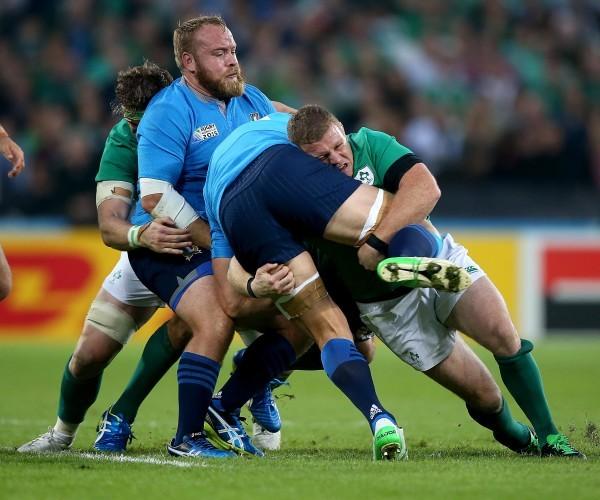 Sean Cronin makes a tackle