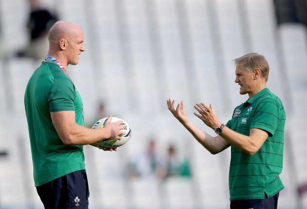 Paul O'Connell and Joe Schmidt