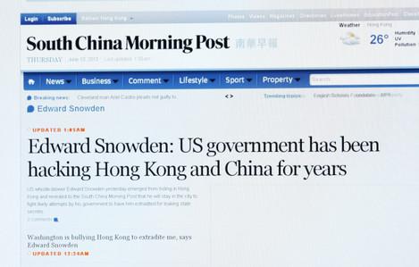 Hong Kong Surveillance Snowden