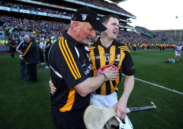 Brian Cody with TJ Reid after the game